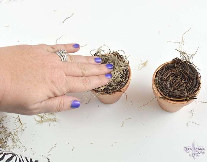 Mini Clay Pot Bird's Nests Step 4b