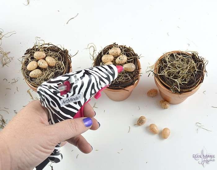 Mini Clay Pot Bird's Nests Step 5a