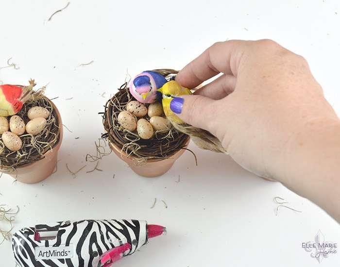 Mini Clay Pot Bird's Nests Step 6a
