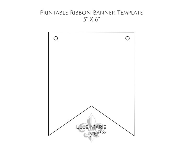 print out ribbon template