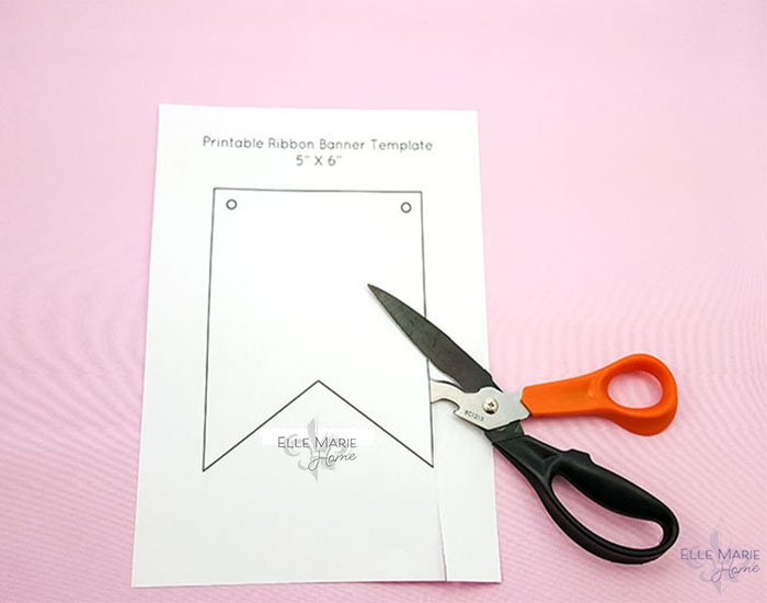 Cut out printed ribbon template