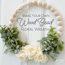 Make Your Own Wood Bead Floral Wreath