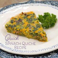 Quick Spinach Quiche Recipe